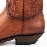Mayura Boots 1920 Cognac/ Spitse Cowboy Western Line Dance Dames Heren Laarzen Schuine Hak Echt Leer_9