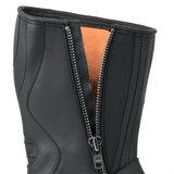 Mayura Boots 1594 Zwart/ Biker Motorlaarzen Dames Heren Ronde Stalen Neus Anti Slip Zool Echt leer_9