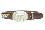 Sendra Buckle belt 8322 Python brown