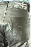 sticks and stones leren jeans semi analine zwart