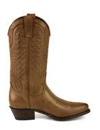 Mayura-Boots-Arpia-2534-Hazelnoot-Bruin--Dames-Western-Laarzen-Sierstiksel-Spitse-Neus-Schuine-Hak-Glad-Leer