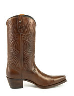 Mayura-Boots-Virgi-2536-Kastanje--Dames-Western-Laarzen-Sierstiksel-Spitse-Neus-Rechte-Schacht-Hoge-Hak-Glad-Leer