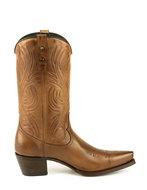 Mayura-Boots-Virgi-2536-Hazelnoot--Dames-Western-Laarzen-Sierstiksel-Spitse-Neus-Rechte-Schacht-Hoge-Hak-Glad-Leer