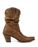 Mayura-Boots-1952-Bruin--Western-Fashion-Dames-Spitse-Cowboylaarzen-Hoge-Hak-Gezakte-Schacht-Soepel-Leer