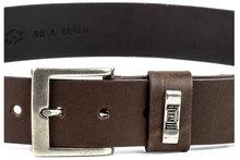 Mayura-Riem-1539-Bruin-Basic-Unisex-Jeans-Riem-4cm-Breed-Verwisselbare-Gesp-Echt-Leer